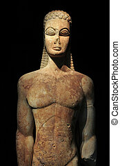ancient greek kouros statue