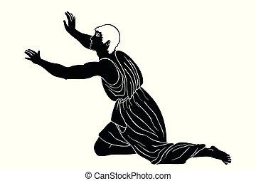 Ancient Greek man.