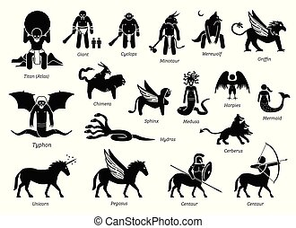 Ancient Greek Mythology Monsters and Creatures Characters ...