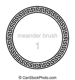 ancient greek ornament meander