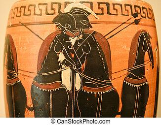 Ancient greek pottery - Ancient greek vase paintings in...