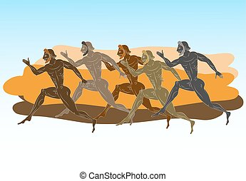 Ancient greek runners