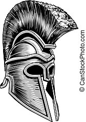 Ancient Greek Spartan Warrior Gladiator Helmet