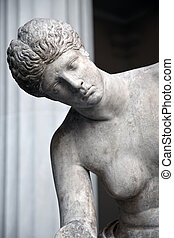Ancient Greek statue of a woman