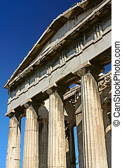 Ancient greek temple - Columns of an ancient greek temple in...