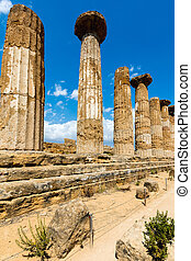 Temple of Heracles in Agrigento, Sicily