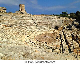 Ancient Greek theatre Syracuse - Ancient Greek theatre of...