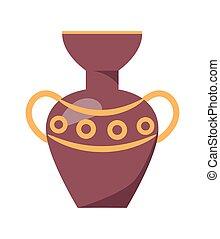 Ancient Greek Vase Isolated Illustration on White