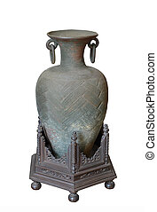 Ancient greek vase isolated on white
