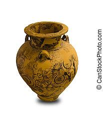 Ancient Greek Vase Isolated
