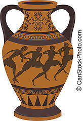 Greek vase - Ancient Greek vase. Vector for you design