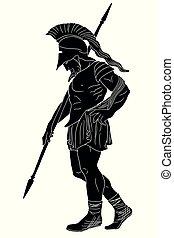Ancient Greek Warrior.