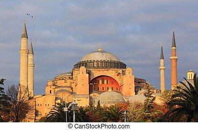 Hagia Sophia - Ancient Hagia Sophia Church in Istanbul,...
