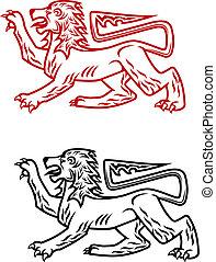 Ancient heraldic lion