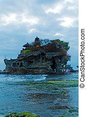 Ancient Hindu Temple at Sunset, Bali