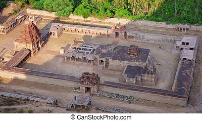 Ancient Hindu temple - Elevated view of ancient Hindu temple