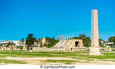 Ancient hippodrome in Tyre, Lebanon