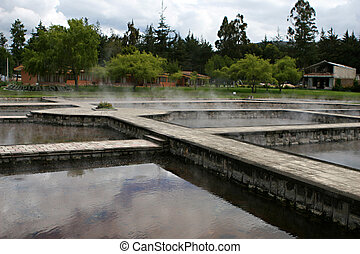 Ancient Hot Springs in Cajamarca, Peru