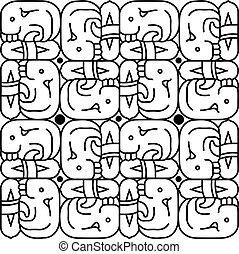 Ancient icon backgound vector illustration