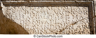 Ancient inscription on stone