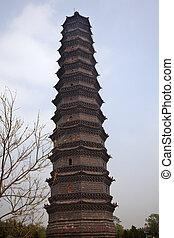 Ancient Iron Buddhist Pagoda Kaifeng China