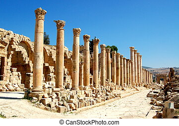 Jerash is known for the ruins of the Greco-Roman city of Gerasa, also referred to as Antioch on the Golden River.
