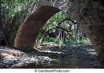 Ancient Kelefos Bridge in Cyprus built by the Venetians