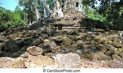 Ancient Khmer temple in Siem Reap, Cambodia, - Ancient Khmer...