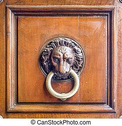 ancient knocker of historic building