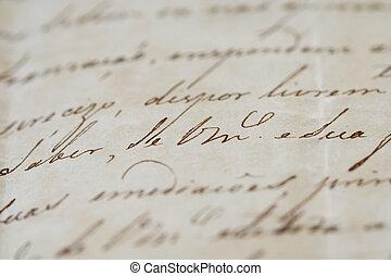 Ancient letter