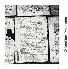 Ancient letter on old grunge paper for your design