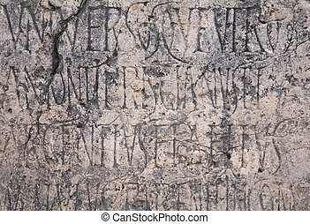 Ancient lettering background - Roman engraved writing on...