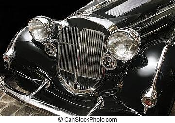 ancient luxury black car