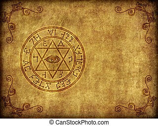 Ancient Magik Sigil Illustration - Illustration of a...