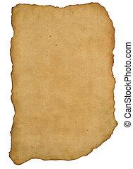 ancient manuscript - Ancient parchment fragment on rock...