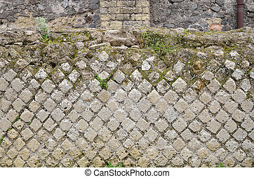 Ancient masonry in the lost city Pompeii