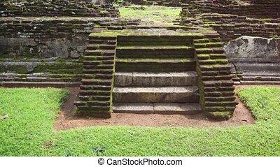 Ancient Masonry of Historic Palace Ruin in Polonnaruwa - ...