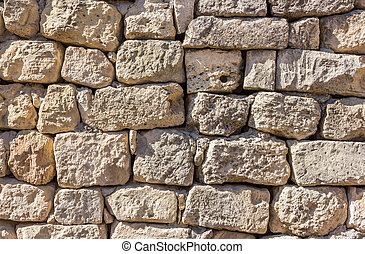 ancient masonry of limestone abstract texture background