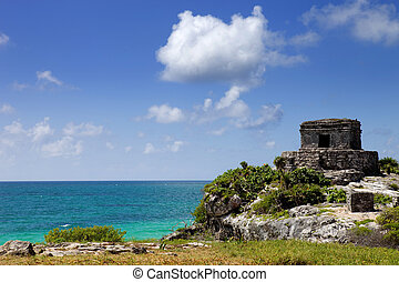 Tulum - Ancient Maya city ruins of Tulum, Yucatan, Mexico