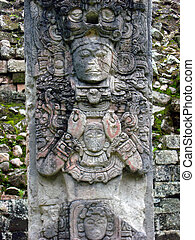 ancient mayan or maya god statue