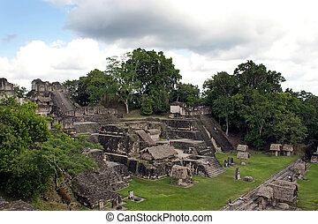 Ancient Mayan ruins in Tikal Guatemala