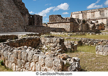 Ancient Mayan ruins in Uxmal. Mexico