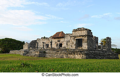 Ancient Mayan Ruins - Temple of the Descending God