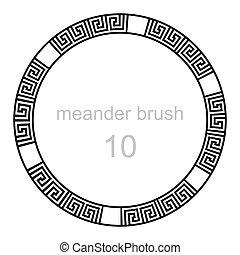 ancient meander pattern line
