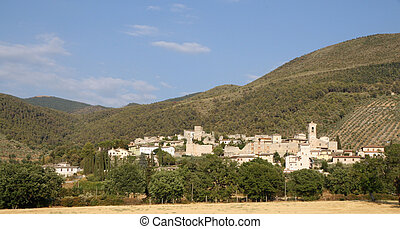 ancient medieval village in the hills of Umbria