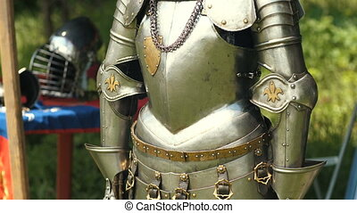 Ancient metal armor of the medieval knight - Armour of the...