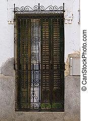 ancient metal window