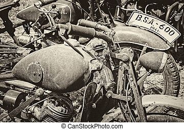 ancient military motorcycles