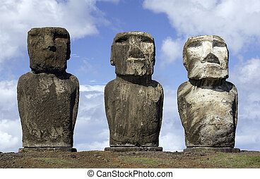 Easter Island in the South Pacific