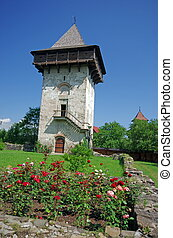 Ancient monastery tower